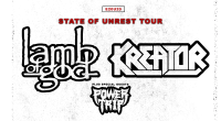 VERSCHOBEN Samsung Hall - Kreator Lamb of God und Power Trip